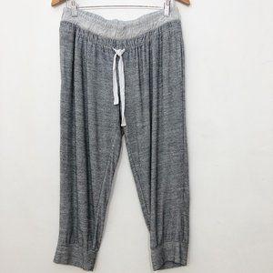 FABLETICS Gray Jogger Cropped Sweatpants L